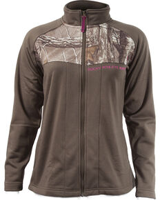 Rocky Women's Full-Zip Fleece Jacket, Dark Brown, hi-res