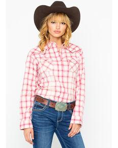 a58024bc512 Wrangler Women s Rose Ombre Long Sleeve Western Shirt