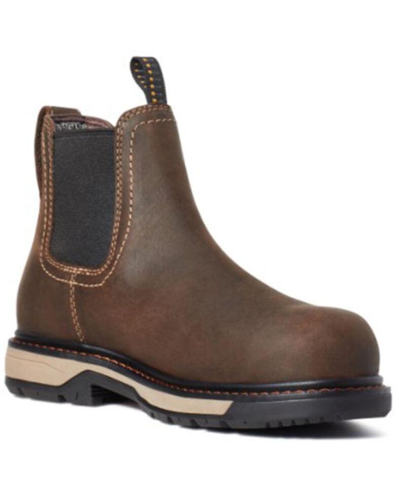Ariat Women's Riveter Chelsea Work Boots - Composite Toe, Brown, hi-res