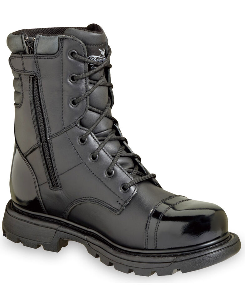 """Thorogood Men's 8"""" GEN-flex2 Tactical Side Zip Jump Boots, Black, hi-res"""