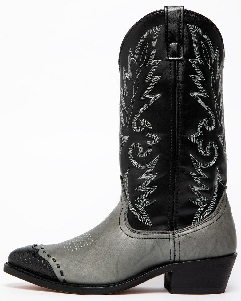 Laredo Men's Flagstaff Wingtip Western Boots, Grey, hi-res