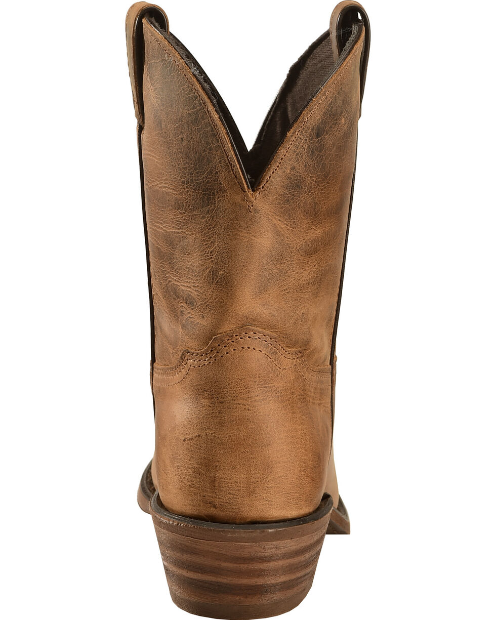 """Abilene Distressed Brown 7"""" Cowgirl Boots - Snip Toe , Brown, hi-res"""