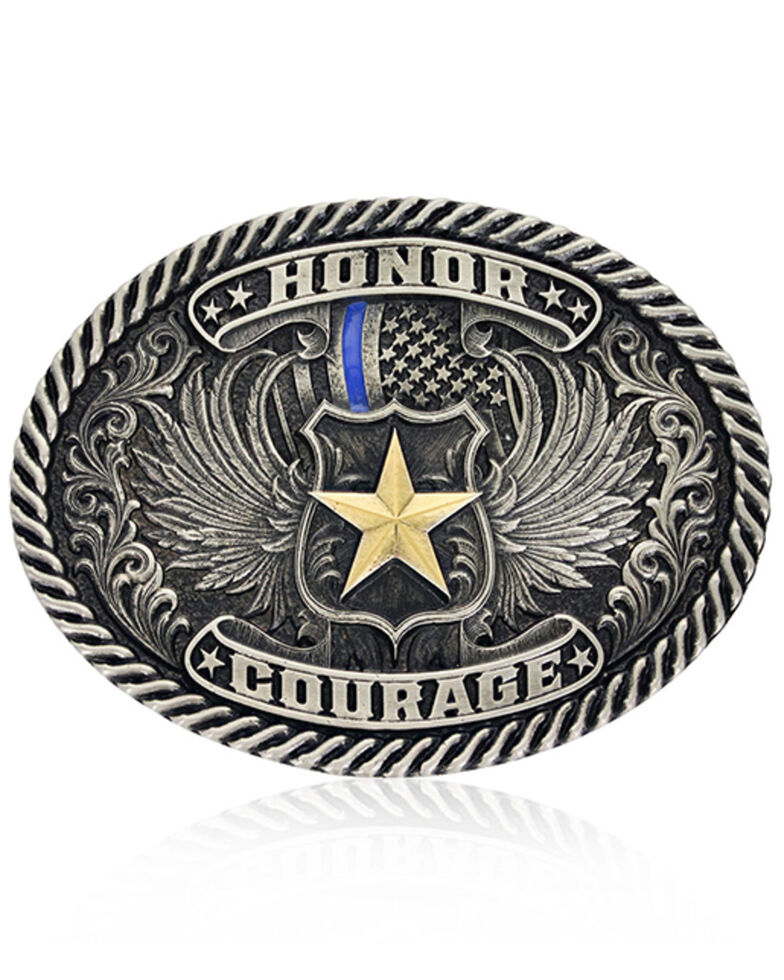 Montana Silversmiths Honor & Courage Attitude Buckle, Silver, hi-res