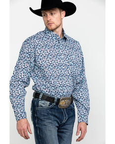 Cinch Men's Multi Paisley Print Button Long Sleeve Western Shirt , Multi, hi-res