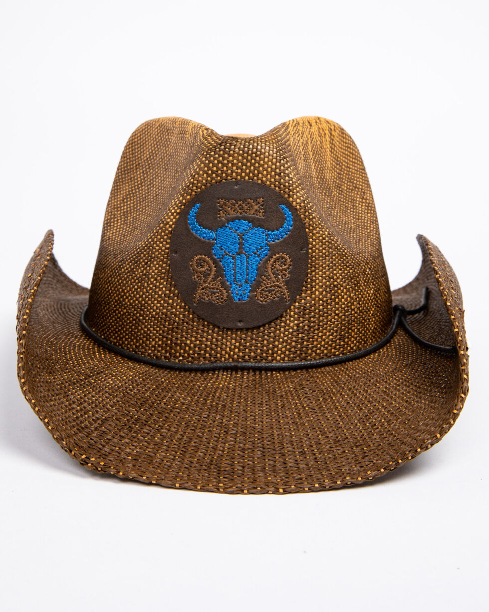 Cody James Men's Blue Bull Hat , Brown, hi-res