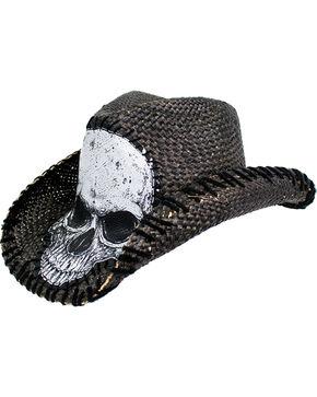 Peter Grimm Men's Tripp Straw Cowboy Hat , Black, hi-res