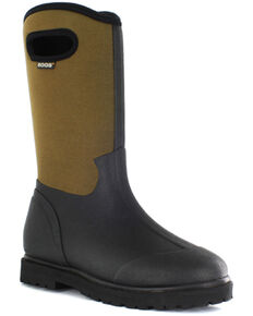 Bogs Men's Roper Insulated Waterproof Work Boots - Round Toe, Black, hi-res