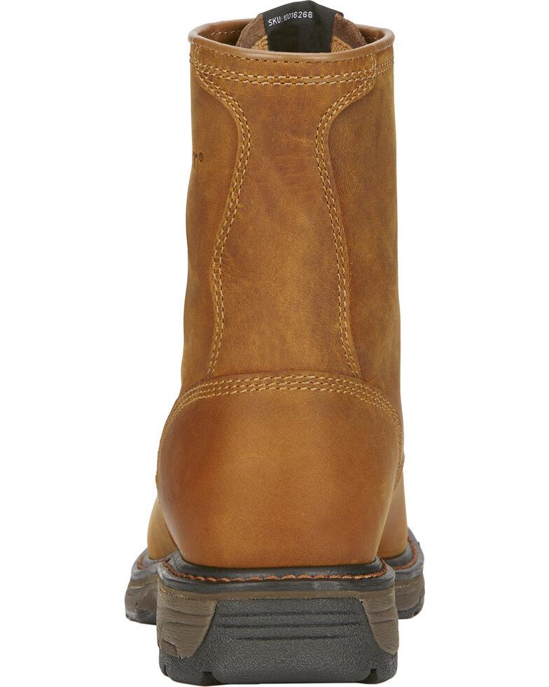 "Ariat Men's Workhog 8"" Lace Up Work Boots, Aged Bark, hi-res"