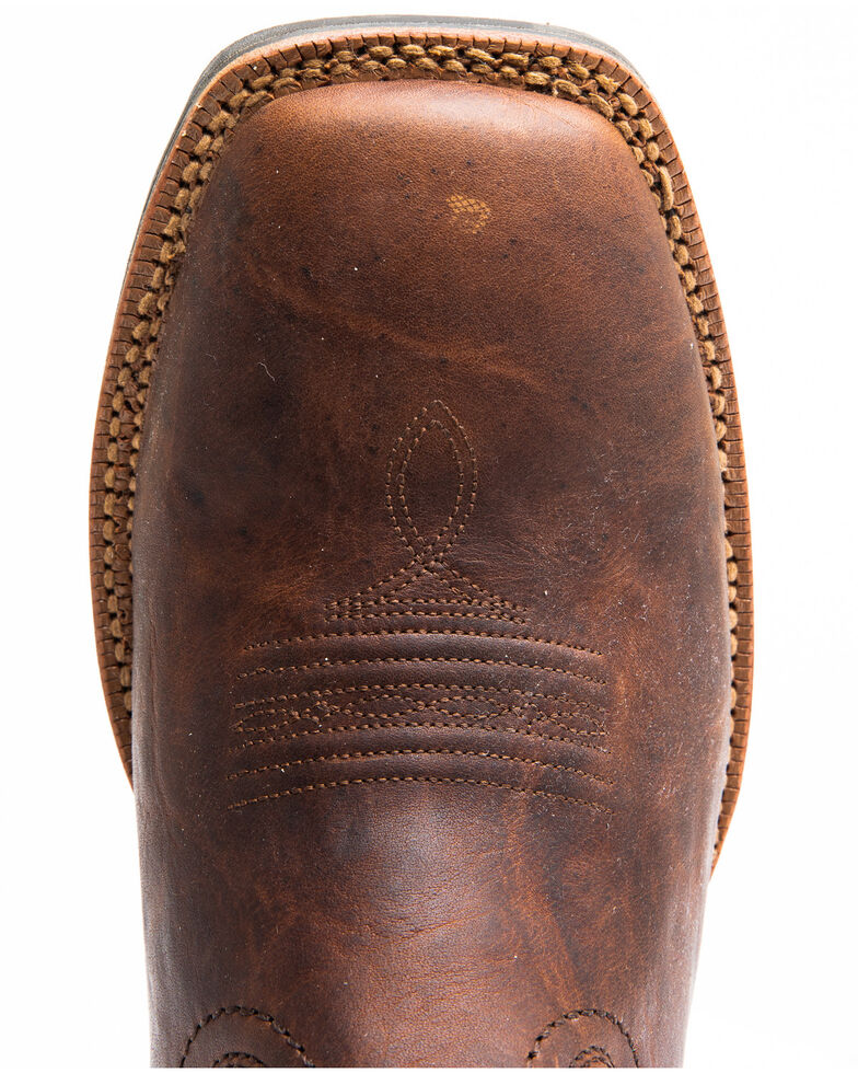 Cody James Men's Durance Brass Brown Western Boots - Wide Square Toe, Brown, hi-res