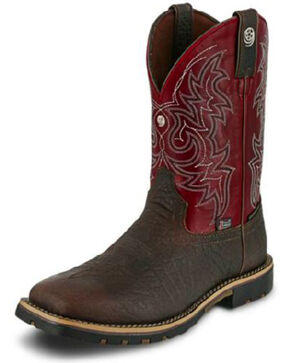 Justin Men's George Strait Fireman Western Boots, Brown, hi-res