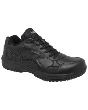 Ad Tec Women's Athletic Uniform Work Shoes - Round Toe, Black, hi-res
