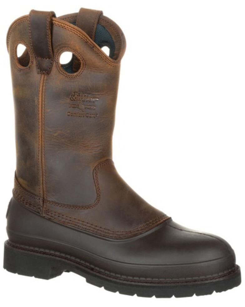 Georgia Men's Muddog Comfort Core Work Boots, Tan, hi-res