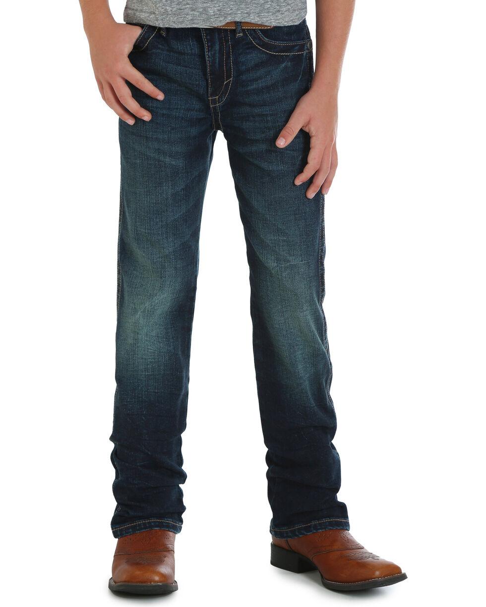 Wrangler Boys' (8-16) 20X No. 44 Slim Fit Jeans - Straight Leg, Indigo, hi-res