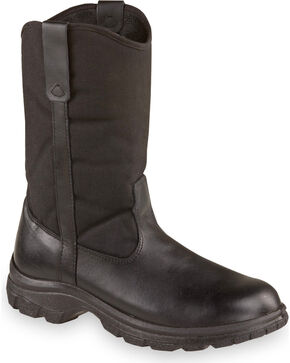 "Thorogood Men's 10"" SoftStreets Wellington Work Boots - Soft Toe, Black, hi-res"