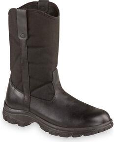 "Thorogood Men's 10"" SoftStreets Wellington Work Boots - Soft Toe, Black, hi-res"