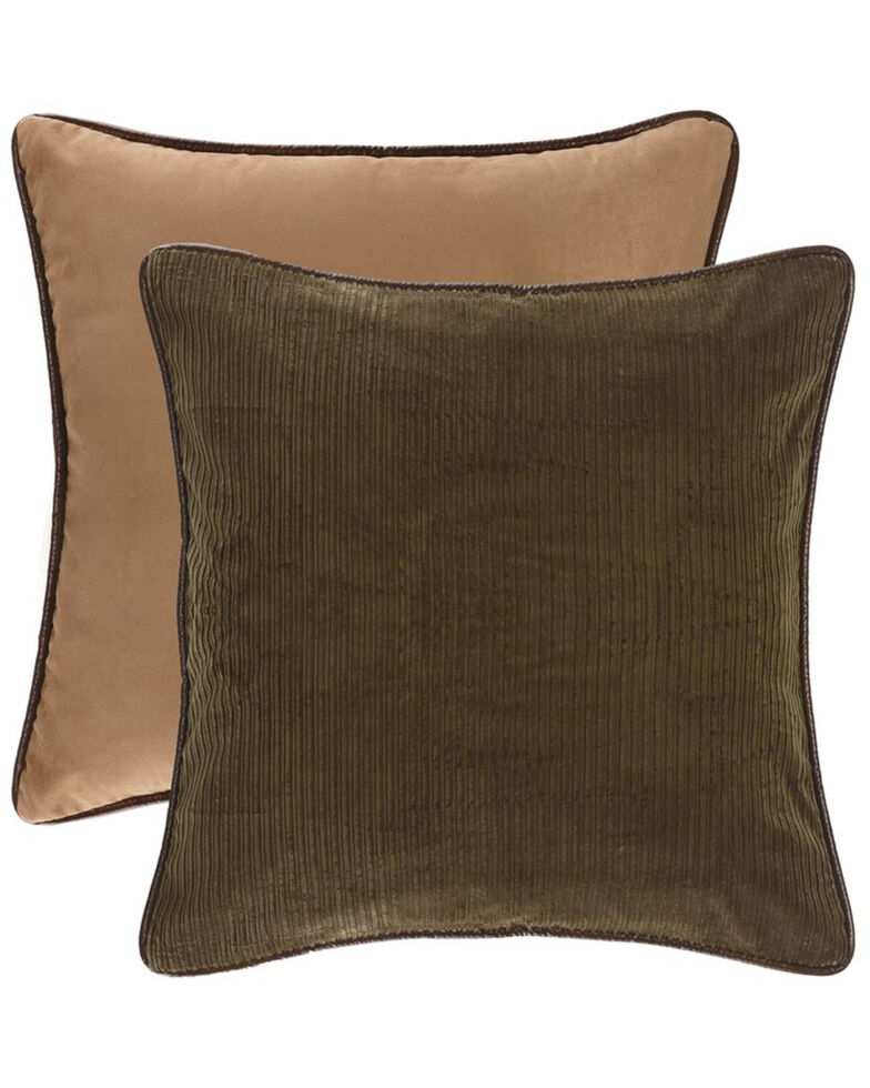 HiEnd Accents Tan Reversible Suede Euro Sham , Tan, hi-res