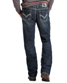 Rock and Roll Cowboy Double Barrel Relaxed Fit Flame Resistant Jeans - Boot Cut , Indigo, hi-res