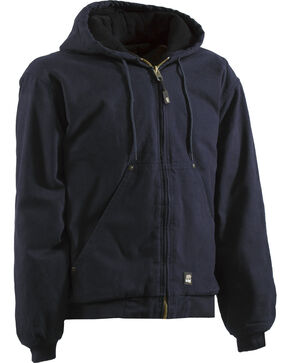 Berne Original Washed Hooded Jacket - Quilt Lined - Tall 5XT and 6XT, Midnight, hi-res