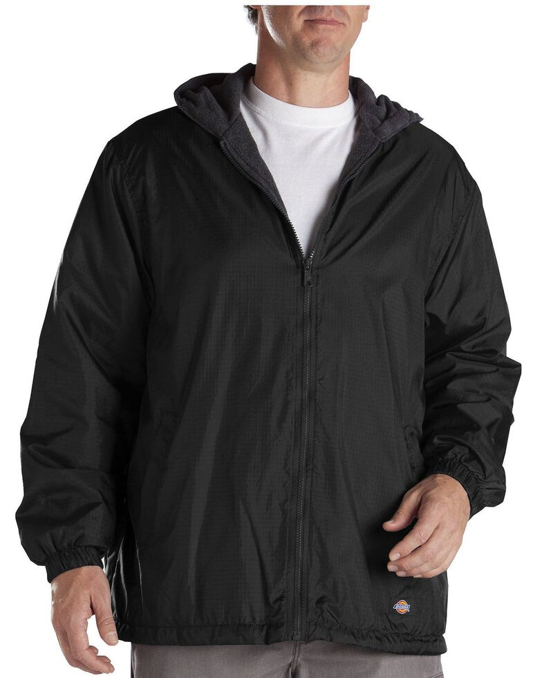 Dickies Men's Fleece Lined Hooded Work Jacket, Black, hi-res