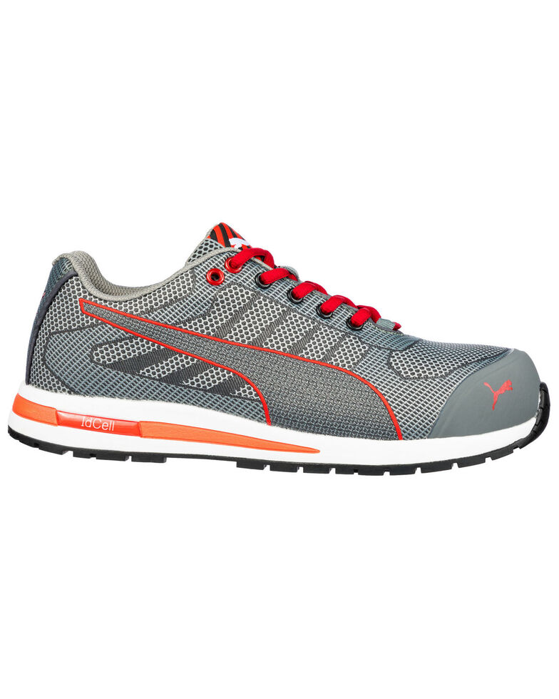 Puma Men's Xelerate Knit Safety Shoes - Round Toe, Grey, hi-res