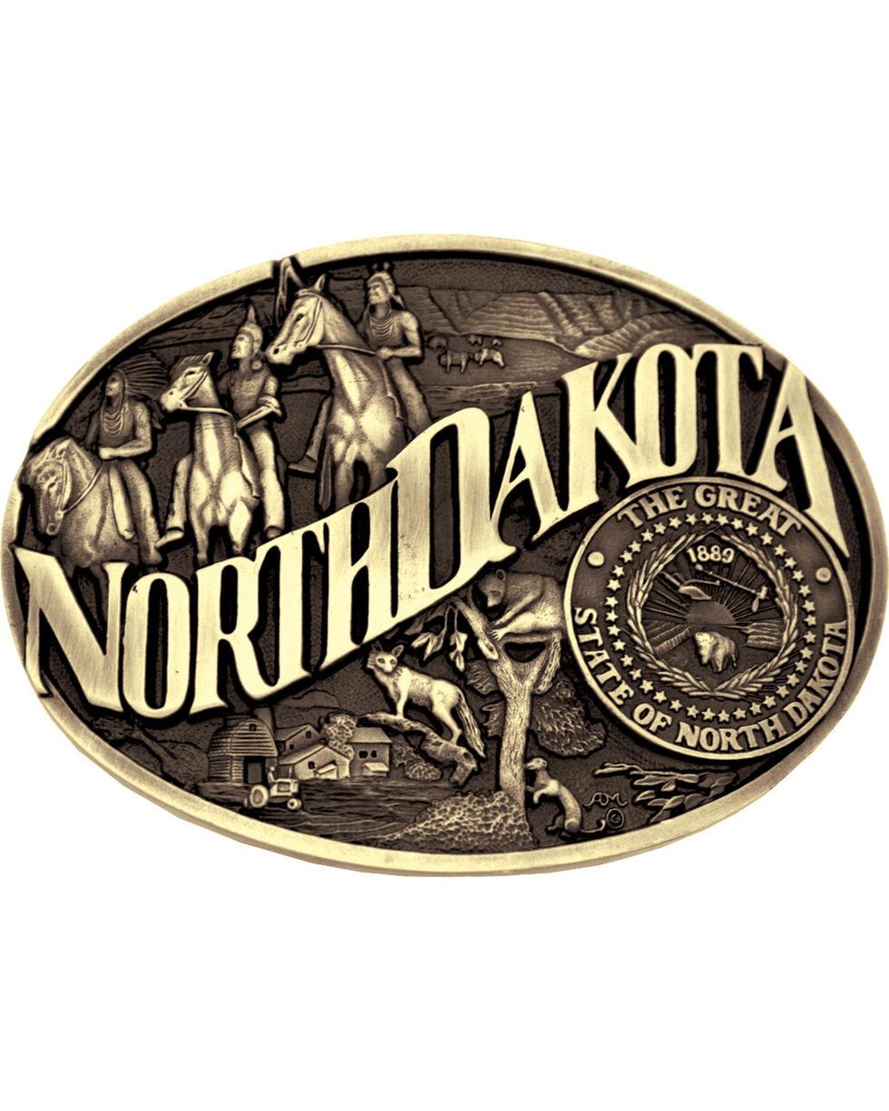 Montana Silversmiths North Dakota Buckle, Gold, hi-res