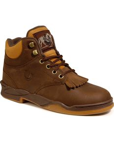 Roper Footwear Men's Horseshoe Kiltie Boots, Tan, hi-res