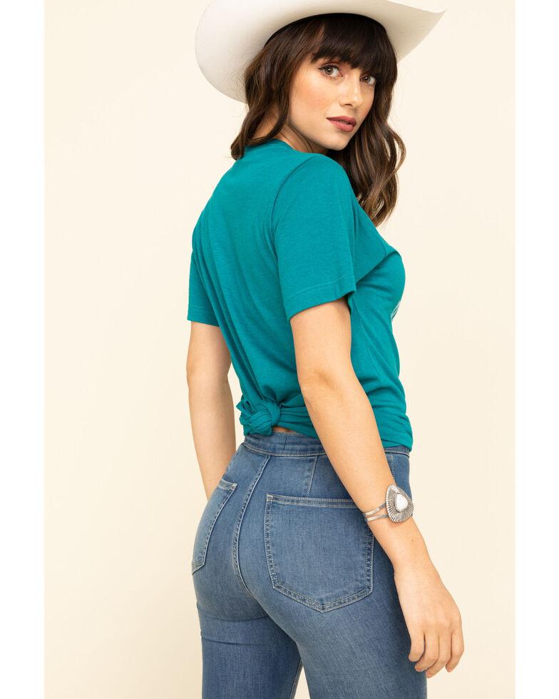 Ranch Dress'n Women's Good Taste In Horses Tee, Teal, hi-res