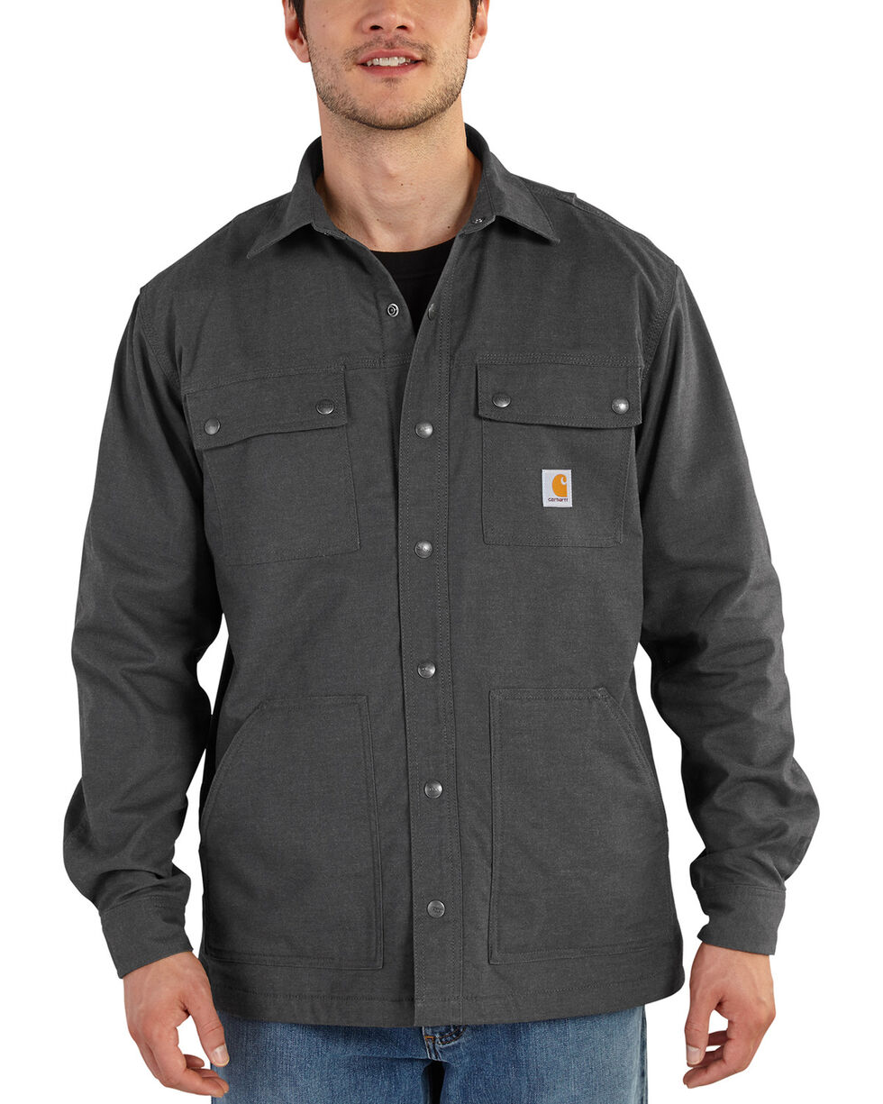 Carhartt Men's Full Swing Overland Shirt Jacket, Shadow Black, hi-res