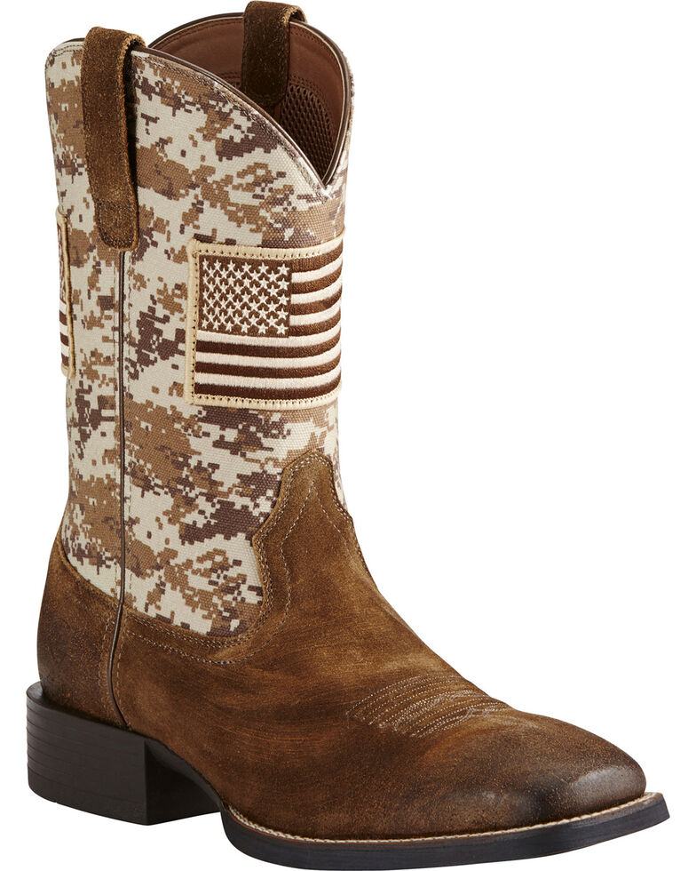 450aba39865 Ariat Men's Camo Patriot Western Boots