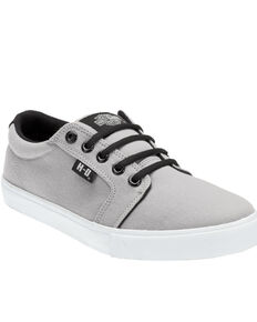 Harley Davidson Men's Ellis Canvas Shoes, Grey, hi-res