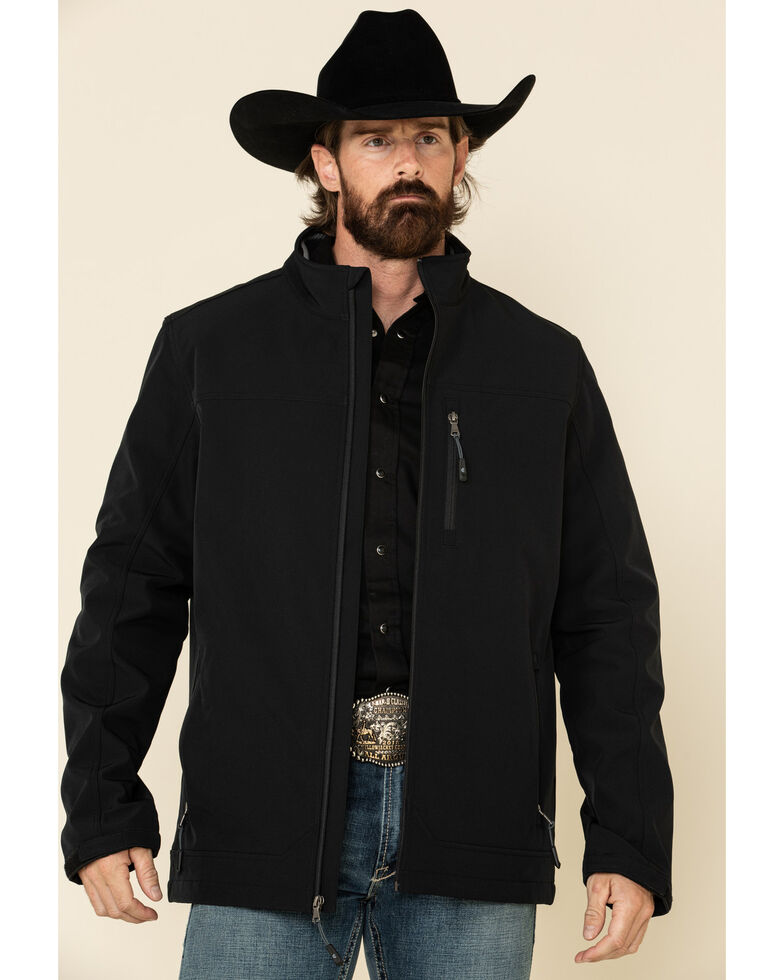 Cody James Core Men's Black Steamboat Softshell Bonded Jacket - Tall , Black, hi-res