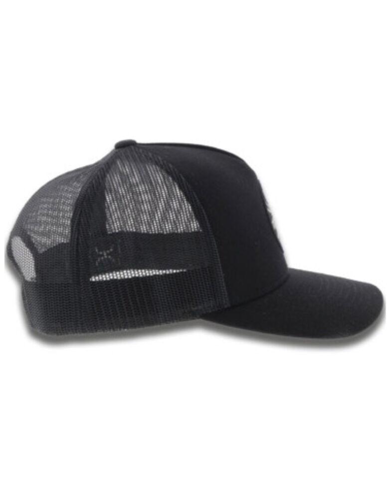 HOOey Men's Black Pioneer Mesh Back Cap , Black, hi-res