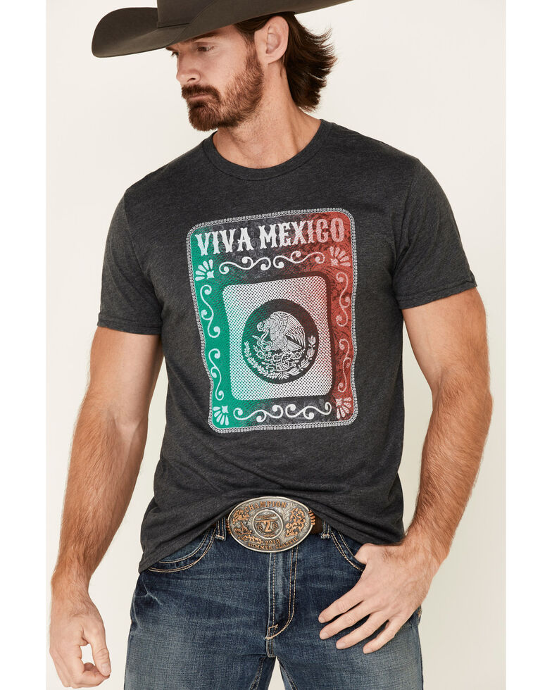 Cody James Men's Grey Viva Mexico Graphic T-Shirt , Grey, hi-res