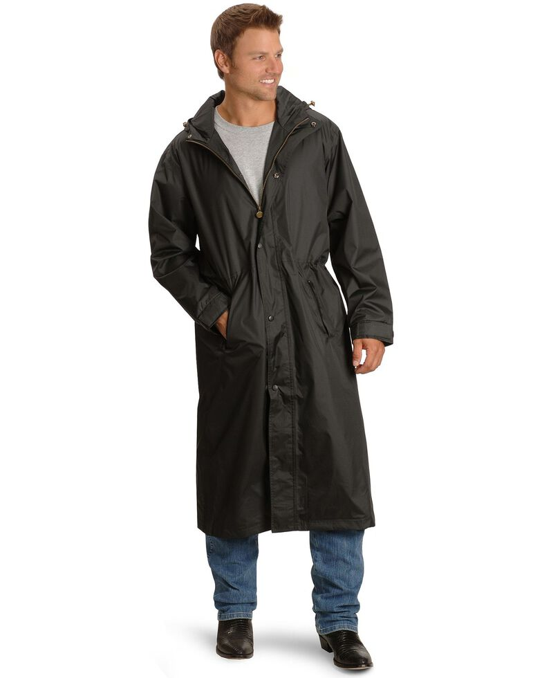Outback Unisex Pak-A-Roo Duster Jacket, Black, hi-res