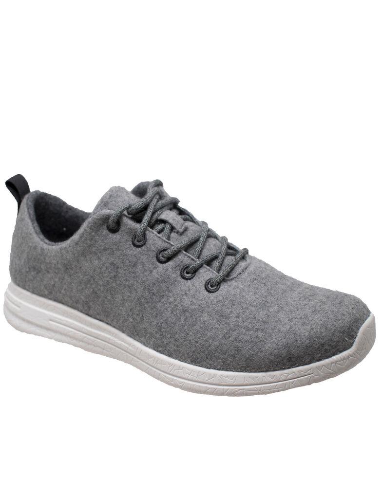 Freeshield Men's Real Wool Casual Shoes, Grey, hi-res