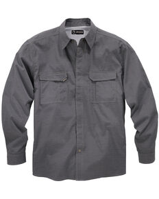 Dri Duck Men's Field Long Sleeve Work Shirt, Black, hi-res