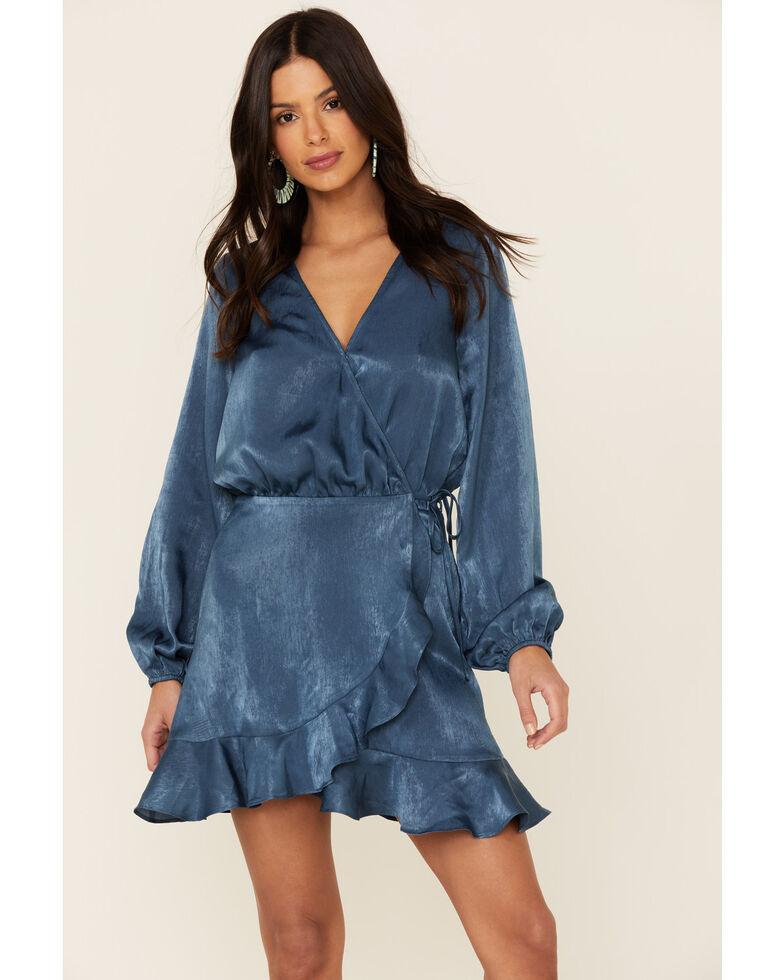 Sadie & Sage Women's Endless Romance Wrap Dress, Blue, hi-res
