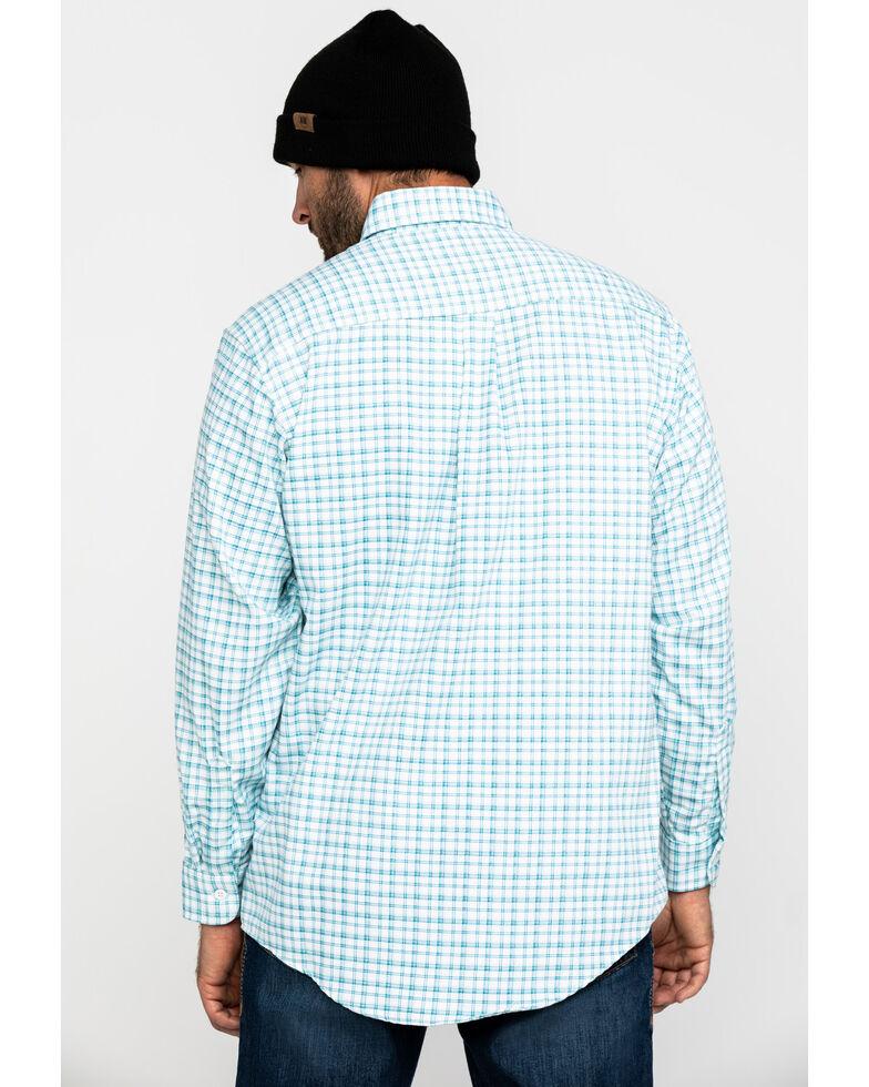 Wrangler 20X Men's FR Turquoise Plaid Long Sleeve Work Shirt - Tall , Turquoise, hi-res