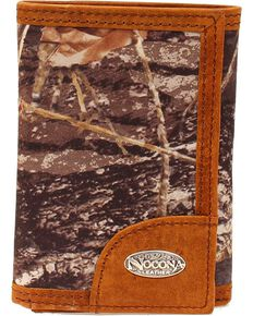 Nocona Men's Tri-Fold Camo Outdoors Wallet, Mossy Oak, hi-res