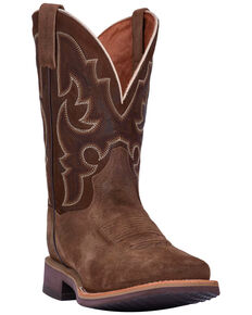 Dan Post Men's Davis Leather Western Boots - Square Toe, Brown, hi-res
