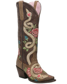 Junk Gypsy by Lane Women's Charmer Western Boots - Snip Toe, Brown, hi-res