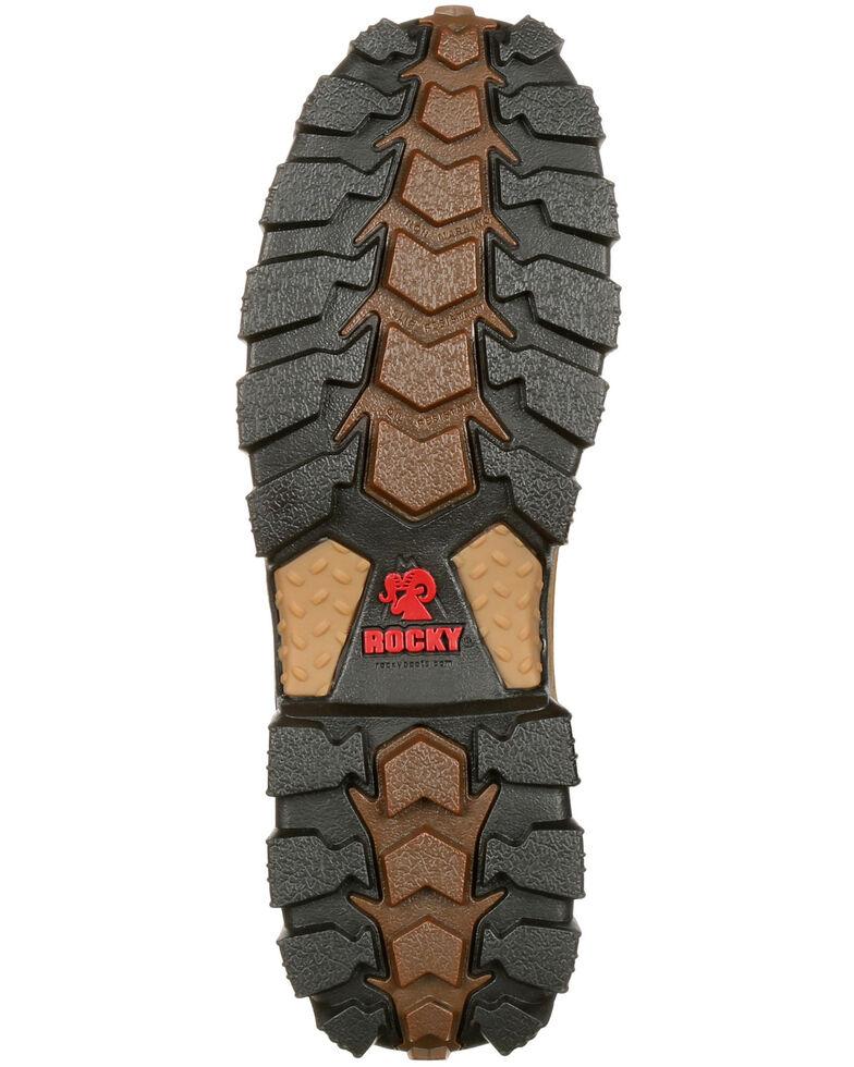 """Rocky Men's Alphaforce Waterproof 6"""" Work Boots - Composite Toe, Brown, hi-res"""