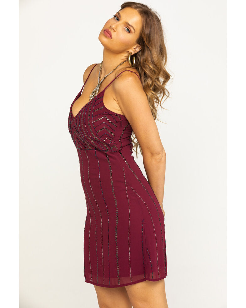 Idyllwind Women's Wine Like What You See Sequin Dress, , hi-res