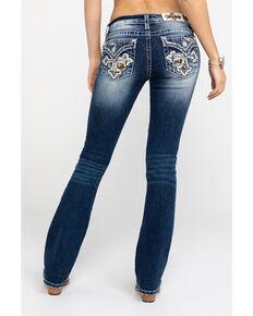 827f084b6e3 Miss Me Women s Dark Camo Cross Bootcut Jeans