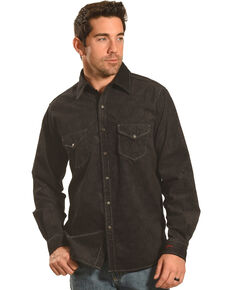 Ryan Michael Men's Black Embossed Paisley Western Shirt, Black, hi-res