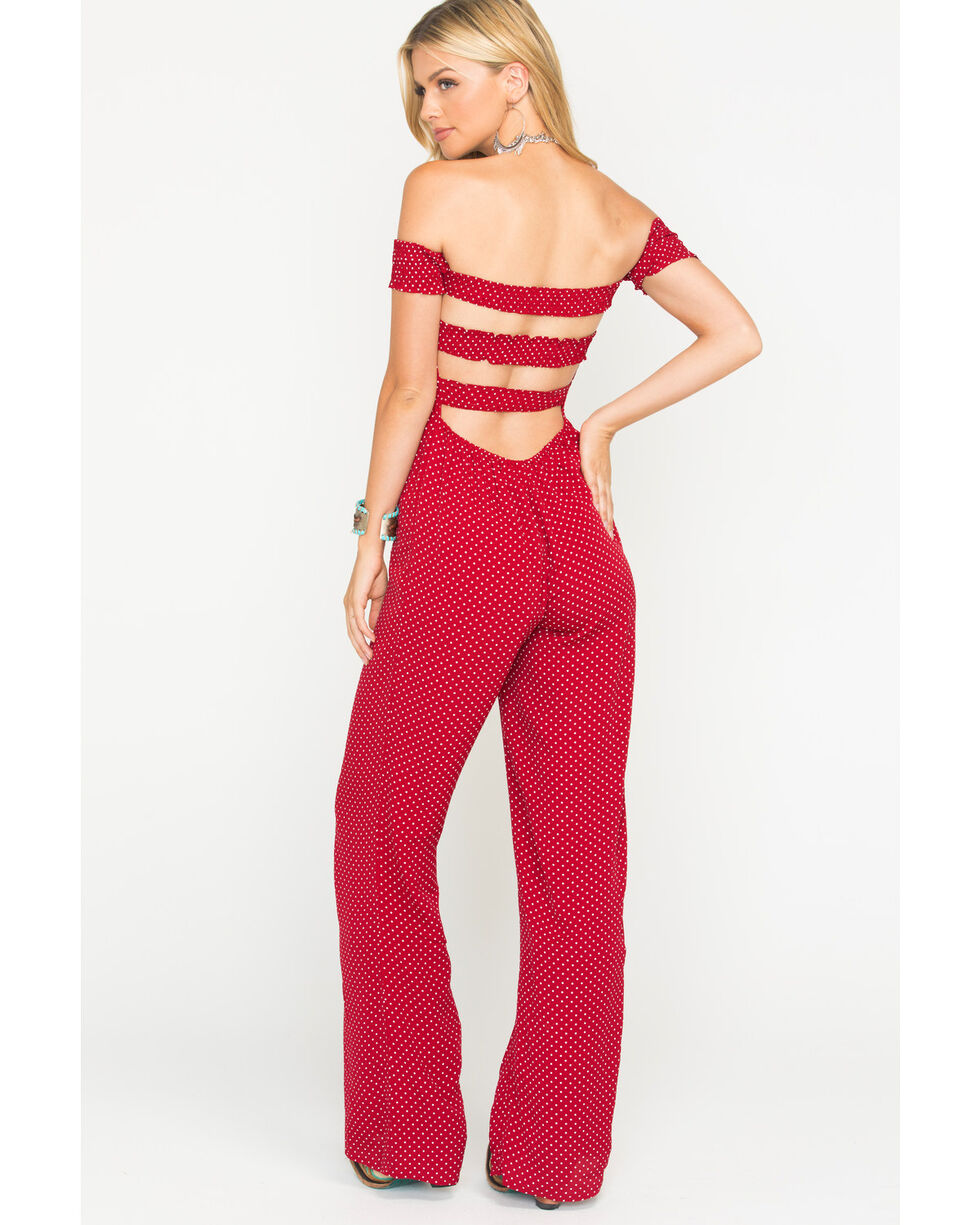 Sage the Label Women's Red Set Sail Jumpsuit, Red, hi-res