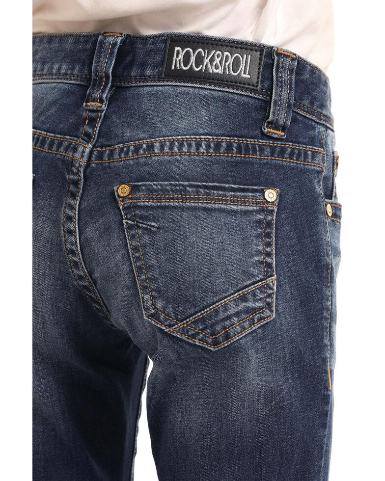 Rock & Roll Cowgirl Girls' Medium Basic Trouser, Blue, hi-res