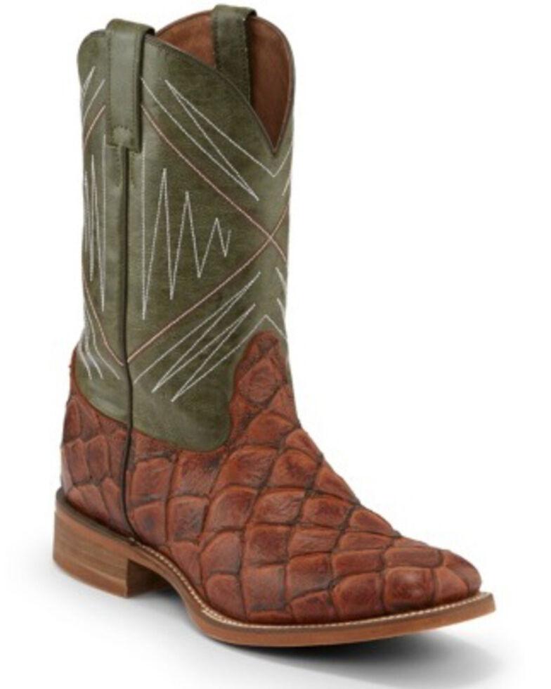Nocona Men's Newt Cognac Western Boots - Wide Square Toe, Cognac, hi-res