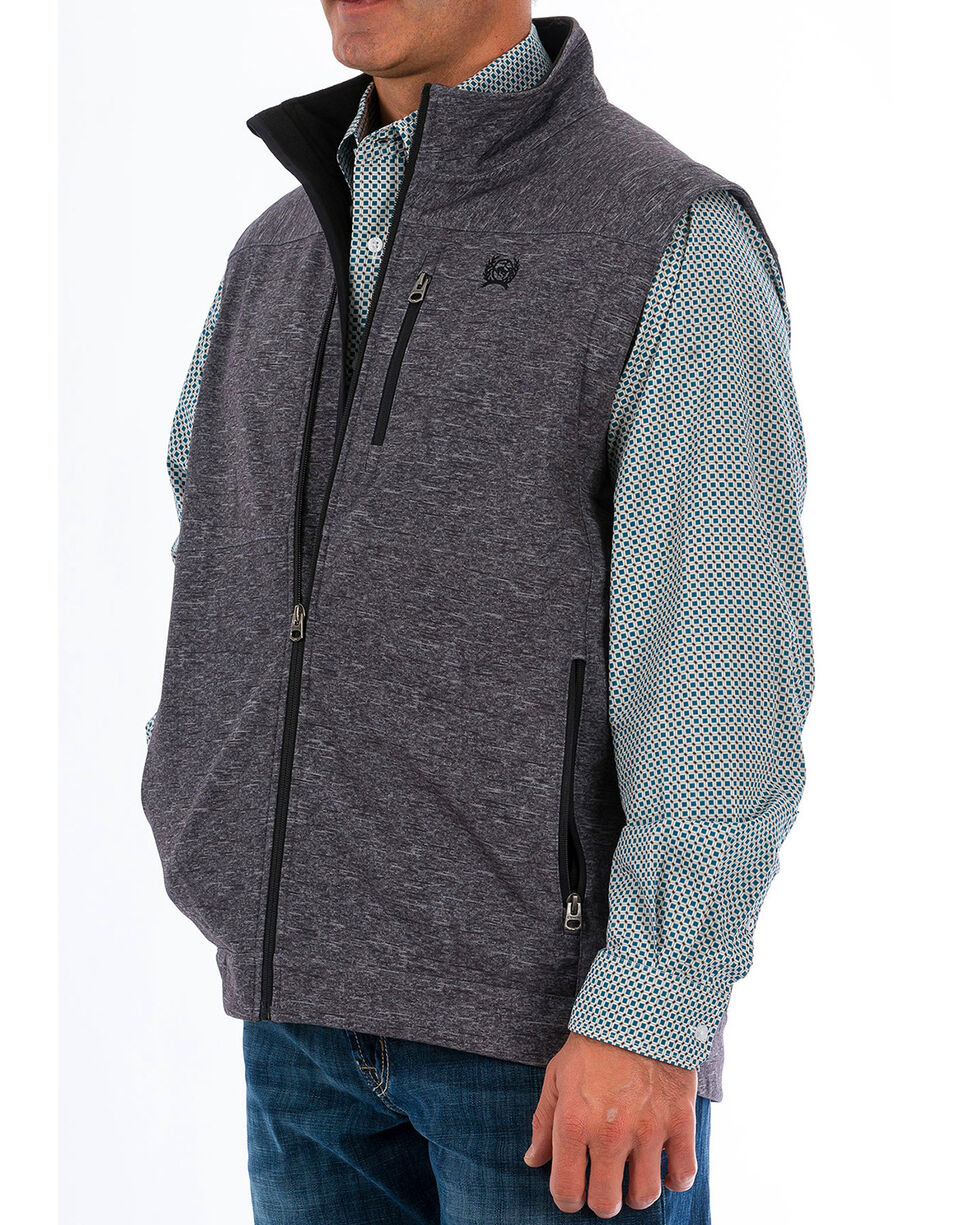 Cinch Men's Concealed Carry Printed Bonded Vest - Big, Charcoal, hi-res