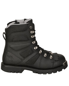 Milwaukee Motorcycle Clothing Co. Men's Ranger Moto Boots - Round Toe, Black, hi-res